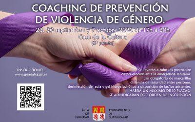 Coaching de prevención de violencia de género