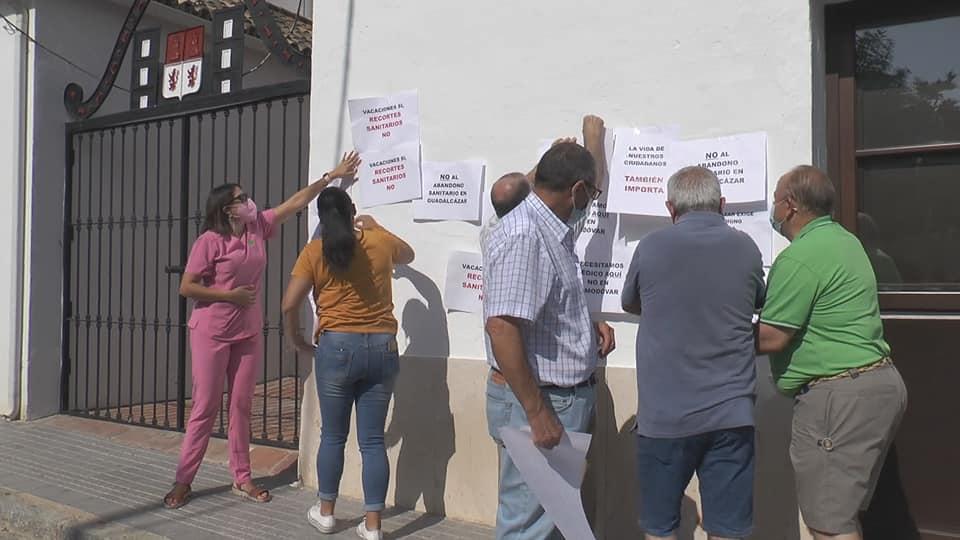 protestas centro salud