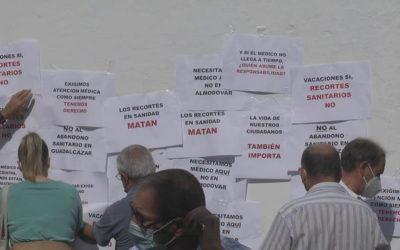 Los vecinos de Guadalcázar se unen en contra de los recortes en el horario médico de su Centro de Salud