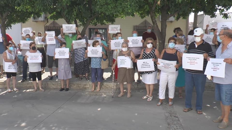 protesta centro salud