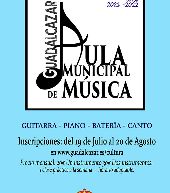 Abierto el plazo de inscripciones del Aula Musical