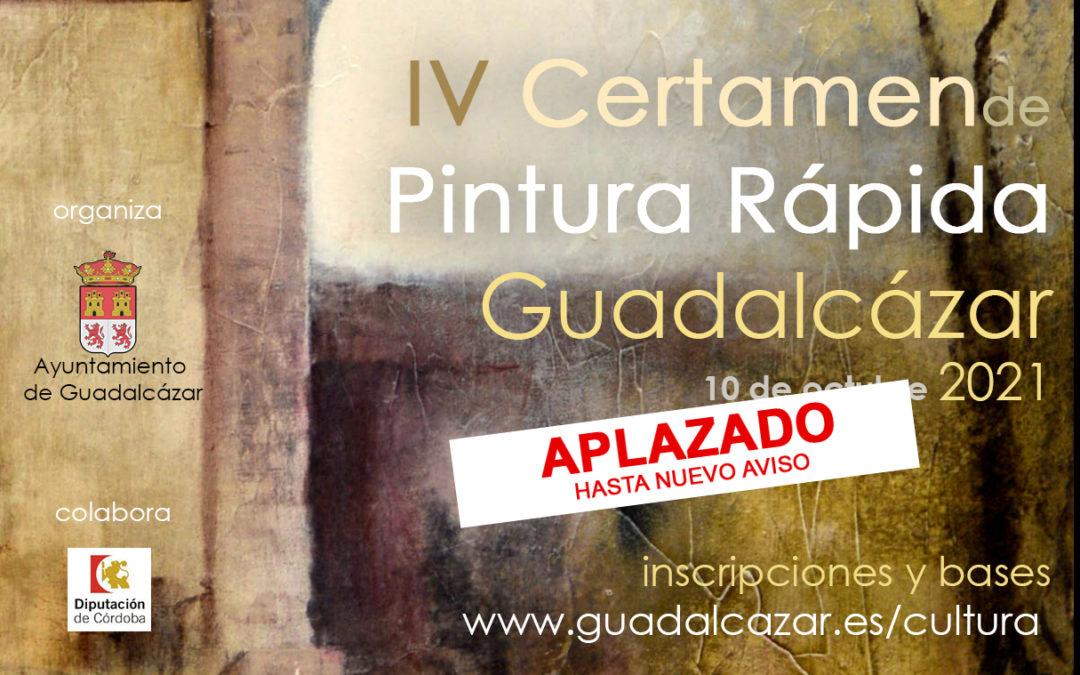 Aplazado el IV Certamen de Pintura Rápida de Guadalcázar.